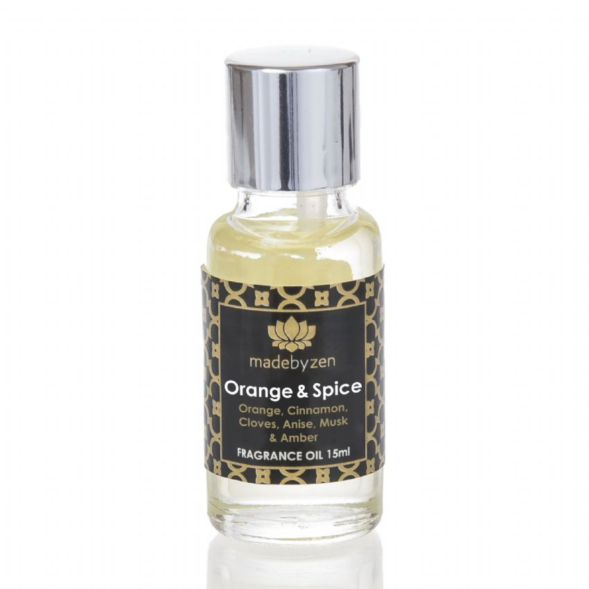 ORANGE & SPICE - Signature Scented Fragrance Oil Made By Zen 15ml